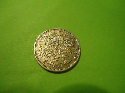 1957 English Six Pence               Combined Shipping