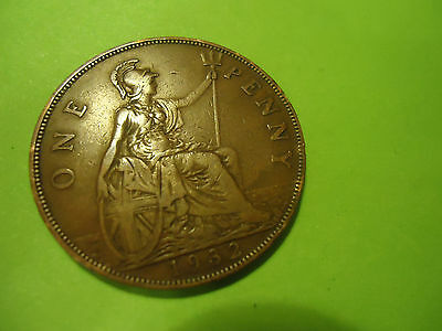 1932 English One Penny               Combined Shipping