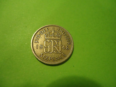 1948 English Six Pence               Combined Shipping