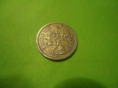 1954 English Six Pence               Combined Shipping