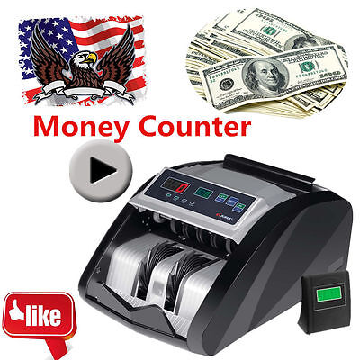 New Money Bill Cash Counter Bank Machine Currency Counting Uv & Mg Counterfeitek
