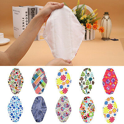 Women Practical Reusable Washable Bamboo Cotton Cloth Menstrual Sanitary Pad