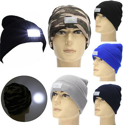5 Lighted Cap LED Hat Warm Winter Beanie Pêche Chasse Pêche Camping Courir