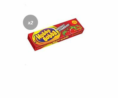 904570 12 x 35g PACKETS OF HUBBA BUBBA BUBBLE GUM - SERIOUSLY STRAWBERRY FLAVOR!