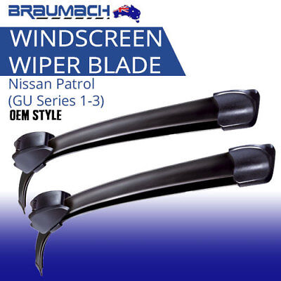 Windscreen Wiper Blades Suit Nissan Patrol 1997-2004 (GU Series 1-3) Aero Design