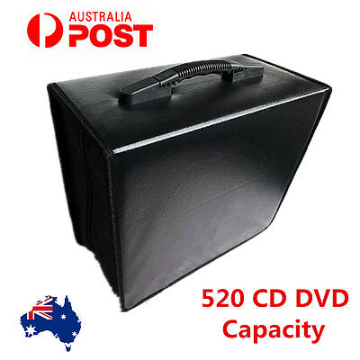 520 Disc DVD CD DISC Storage Case Holder Album Folder Wallet Carry Bag Organizer