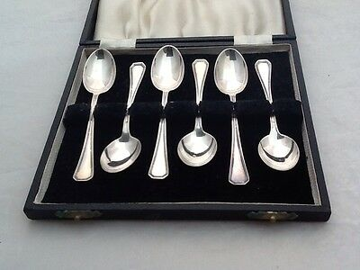Cased Set Of 6 Solid Silver '800' Tea Spoons - Cutlery
