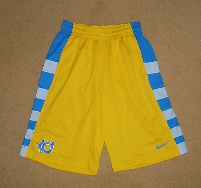 New Medium Mens NIKE Shorts Yellow Blue Polyester Shop Quality