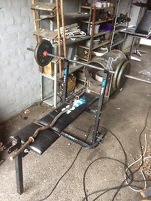 Steel Cast Weight Plates And Bars & Bench Body Sculpture/ Barbell