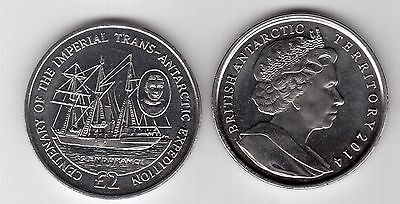 British Antarctic Territory - 2 Pound Unc Coin 2014 Year Ship Endurance