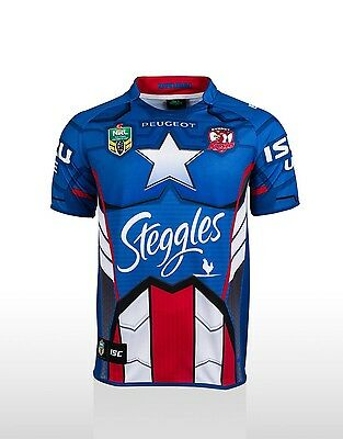 Limited Edition Captain America NRL Rugby Shirt - Sydney Roosters (size:LARGE)