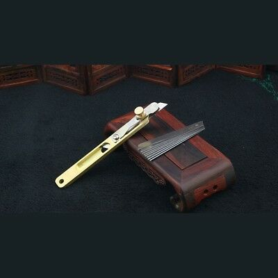 Leather Line Strip Knife Tool Copper Trimming  Positioning diy Cutter Craft TooL