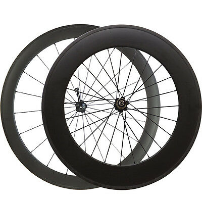 Standard 700C 50+88mm Tubular Carbon Wheels Cycling Bicycle Road Bike Wheelset