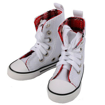 [wamami]1/4 White&Red High Aboral Shoes/Sneakers Woman For MSD DOD BJD Dollfie