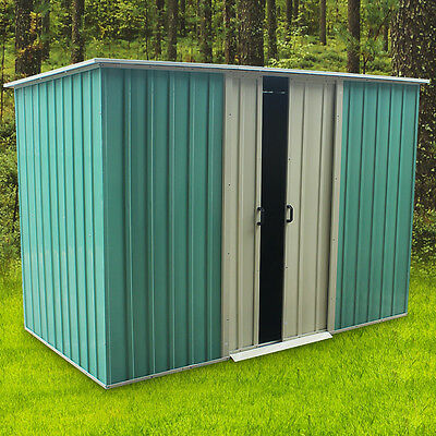 Metal Garden Shed Pent Tool Storage Ourdoor Shed House Gabled Roof 4*8FT UK