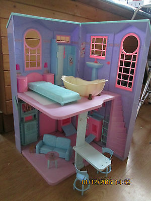 Barbie House, Barbie doll, 14 items of furniture & many accessories