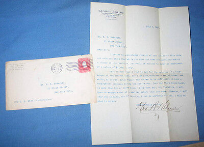 1907 U.S. Steel Corp Signed Employment Rejection Letter in Envelope