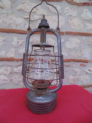 Lampe Tempete Ancienne A Petrole Complete