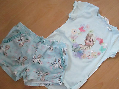 Girls FROZEN ELSA outfit (top & shorts)*  H&M * Age 4-6 * VGC