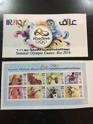 Iraq November 2016 Olympic Games Rio Brazil Stamps MNH Set Official Booklet