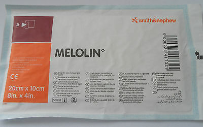 x1 MELOLIN SMITH & NEPHEW DRESSING 20cm X 10cm 66974939 Cuts Burns