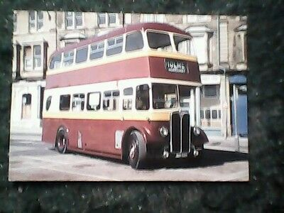 Rather crumpled postcard AEC Regent III Buxton Market Place 1985 Holme Morganby