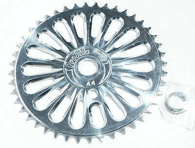 PROFILE Racing imperial 44t chainwheel sprocket. Silver. NOS BMX mid old school