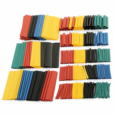 328Pcs 8 Sizes Car Electrical Wire Heat Shrink Tube Tubing Wrap Sleeve Assorted