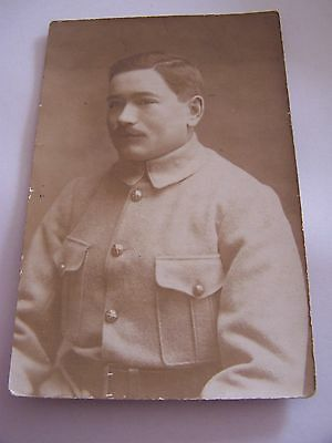 RP Postcard French Soldier Occupation Forces 1920 Uniform Military