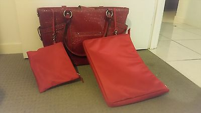Womens Red Briefcase Bag
