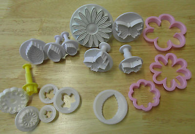 Bundle Cake Decorating Tools Daisy butterflies carnation leaves & small mickey