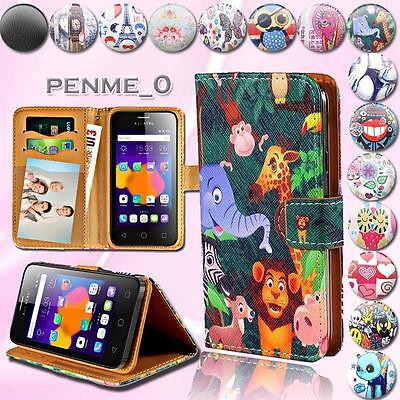 For Alcatel One Touch POP 2 3 4 Model Leather Stand Flip Wallet Cover Phone Case