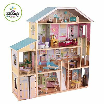 KidKraft Majestic Mansion Dollhouse Comes with 35 furniture pieces and accessori