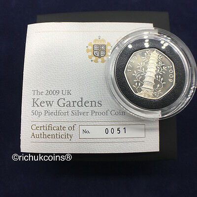 [2009 UK Coin]1x UK 2009 Silver Proof Piedfort Coin Kew Gardens (Numbered 0051)