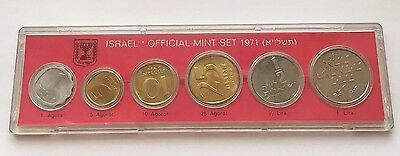 1971 Israel Official 6 Coin Mint Set Free Shipping