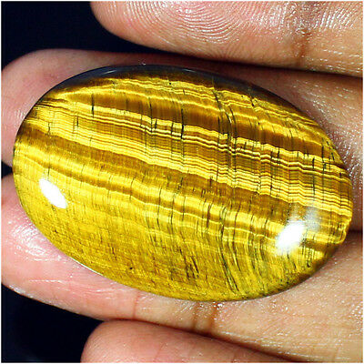 51.90 Ct 100% Natural Golden Tiger Eye Oval Cabochon Loose Gemstone Stone_Artt