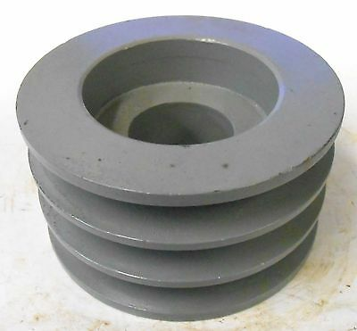 """Unknown Brand 3 Groove Pulley, 4"""" Od, 2 1/2"""" Width, 1 5/8"""" Bore"""