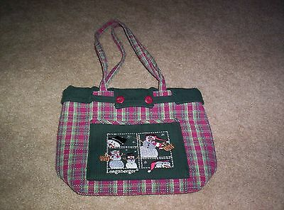 Longaberger Christmas Purse Tote Gift Bag  Never Used