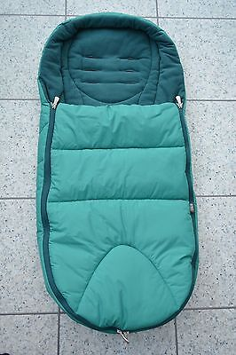Mamas and Papas Teal Green Cold Weather PLUS Universal Footmuff Cosytoes