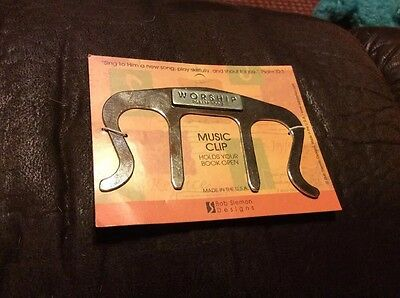 Music Page Holder/book Clip Worship Psalm 100:2 Made In USA Bob Siemon design