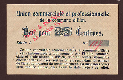Luxemburg / Luxembourg Eich 25 Centimes Serie A (Rouge) aUNC