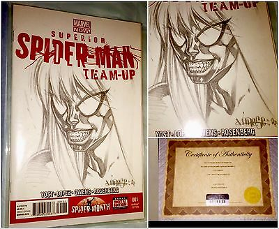 SPIDERMAN 1 Blank Cover MJ/VENOM RARE 1of 1 ARTIST PROOF Sketch By  Jose Varese