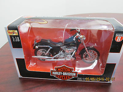 Harley Davidson Moiso 1999 Dyna Low Rider Die Cast Motorcycle 1:18 New in Box