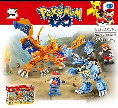 Pokemon go Dragonite gym figures Fits lEgO Building toys with tracking