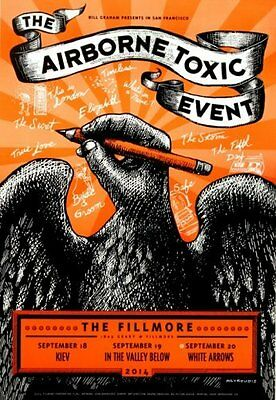 The Airborne Toxic Event Bill Graham Fillmore Gig Concert Poster