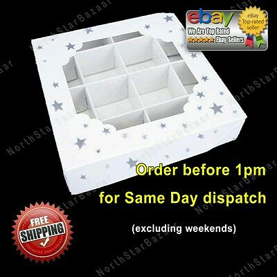 Empty SILVER STAR Pick And Mix Sweet Boxes Packaging Acetate Tray boxes