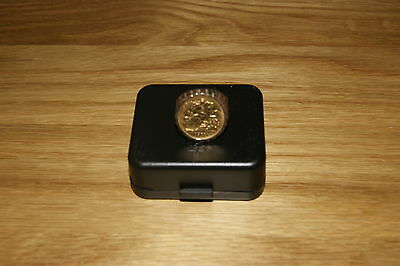 Stunning London  22Ct1911 Half Sovereign Ring In Heavy 9Ct Mount