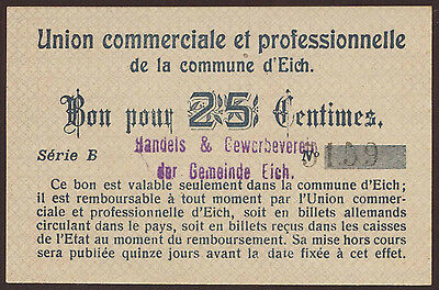Luxemburg / Luxembourg Eich 25 Centimes Serie B  UNC