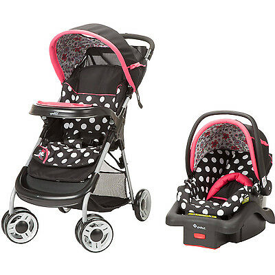 Best Baby Travel System Stroller And Car Seat Combo For Girls Disney Pink Set