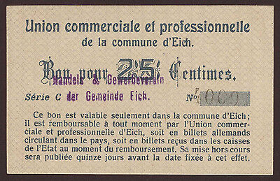 Luxemburg / Luxembourg Eich 25 Centimes Serie C  aUNC